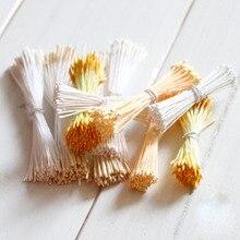 Crafts 140pcs/lot 4 Colors Double Heads DIY Artificial Mini Pearl Flower Stamen Pistil 2mm Floral Stamen