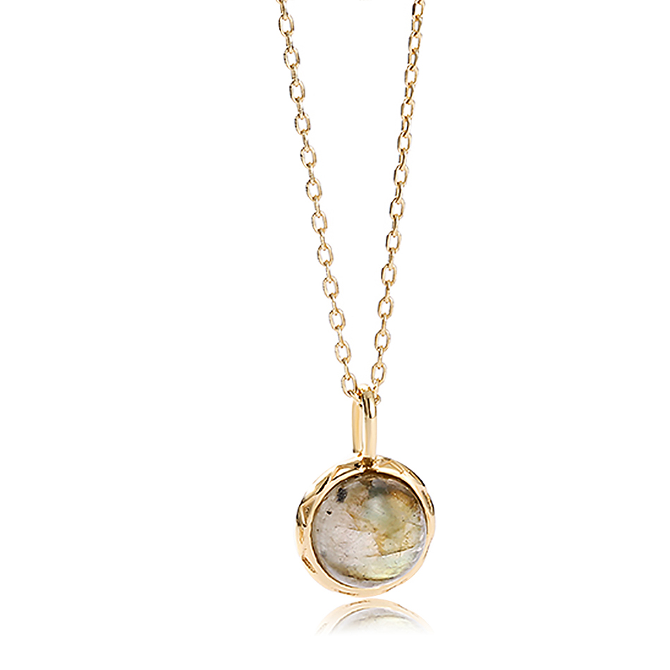 ALLNOEL Real Labradorite Pendants Necklace For Women Solid 925 Sterling Silver Round Gemstone Jewerly Engagement Wedding New (5)