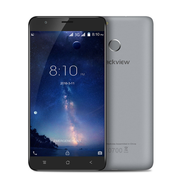 Original blackview e7s 5.5 pulgadas android 6.0 3g smartphone 2 gb ram 16 gb rom touch id mtk6580 quad core 1.3 ghz 8.0mp móvil teléfono