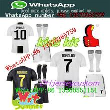 162d369c2 kids kit 2018 Juventus home Soccer Jersey 2018 2019 juve RONALDO HIGUAIN  DYBALA D. Costa MANDZUKIC BUFFON child Football shirt