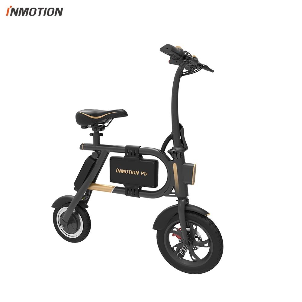 INMOTION E BIKE P1F складной электрический скутер мини стиль IP54 приложение поддерживается 30 км/ч Электронный велосипед - 3