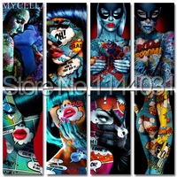 MYCELLA Handmade Needlework Diy Diamond Painting Kit Diamond Embroidery Sexy Tattoo Girl Full Rhinestone Cross Stitch