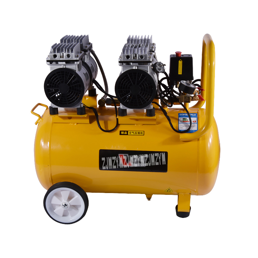 1piece Hight Quality  50L Electric Air Compressor  1200W ,without Oil  Air Compressor ,0.067m3/min