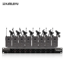 цена на System 8600B Professional Wireless Microphone 8 Channel Professional VHF 8 Stage Karaoke Microphone Handheld Wireless Microphone