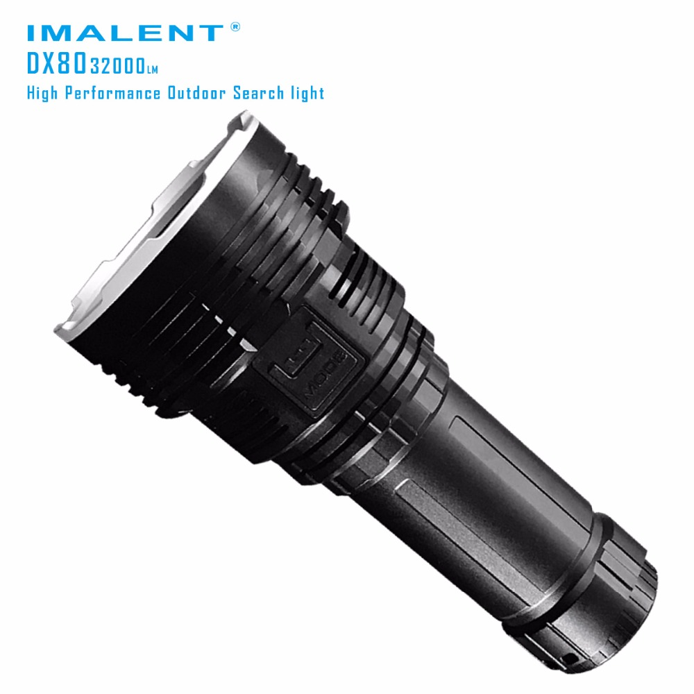 Original IMALENT DX80 LED Flashlight CREEXHP70 <font><b>32000</b></font> <font><b>lumen</b></font> beam distance 806 meter Torch Flash light with Battery+USB Charging image