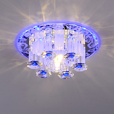 Modern home decoration crystal led ceiling lamp hotel ktv hallway ceiling lamp surface mounted