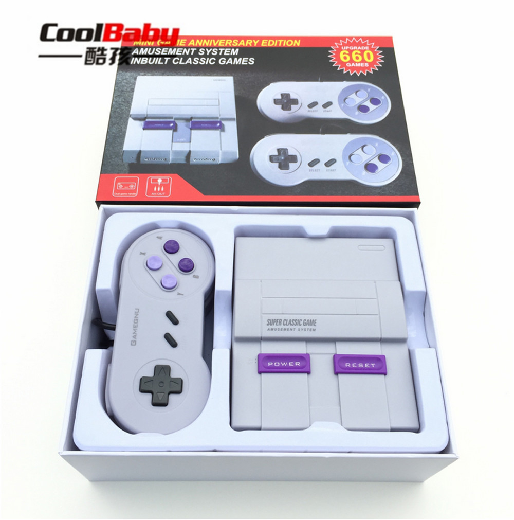 Mini AV Out Retro Classic Handheld Game Player Family TV Video Game Console Childhood Built-in 660 8bit Games