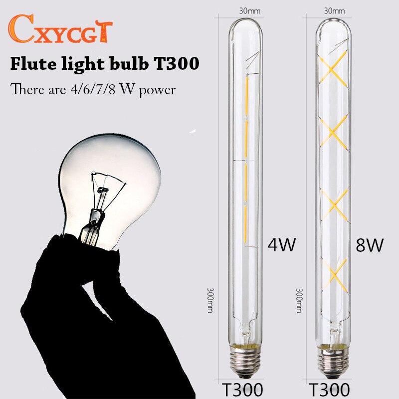 Vintage Edison Bulb E27 220V Lamp Bases T300 Fkute wall lamp LED light bulb Filament Luminary Lighting Bulb Light