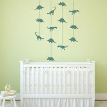 Dinosaur Cot Mobile Wall Stickers Jurassic Dino Wall Decal Baby Nursery Decor New Arrivals Wallpaper High Quality Mural SA323