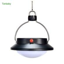 Tanbaby Waterproof solar Tent Light 60 LED White Portable lantern Camping hiking Umbrella Night lamp emergency light +USB Charge