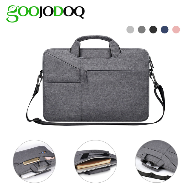 "Waterdicht Vrouwen Mannen Laptop Tas 13.3 15.4 ""Case voor Macbook Air 13 15 Tas 11 12 14 Macbook Pro 15 touch bar Mouw met Riem"