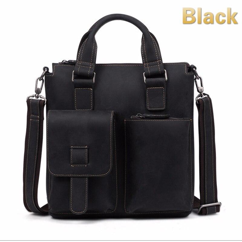 Vintage New D'affaires Cuir Serviette Mode Hommes Décontractée Épaule En Bag Horse Emballages Vrais Crazy De Messenger 4rqcrIFW