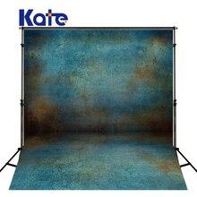 Kate ретро синий стены фото Задний план Фон фотографии детей моющиеся Фоны для Аксессуары для фотостудий