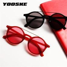 YOOSKE Women Round Sunglasses Vintage Classic Hip Hop Style