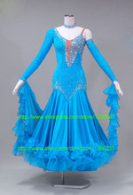 Beautiful Ballroom Gowns 2016 New Smooth Dress competition gowns ballroom waltz dresses