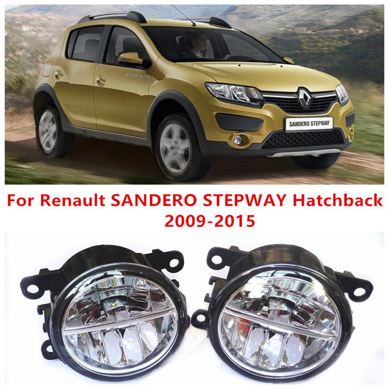 For Renault SANDERO STEPWAY Hatchback  2009-2015 10W Fog Light LED DRL Daytime Running Lights Car Styling lamps renault sandero stepway в украине