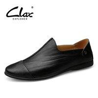 Clax Для Мужчин's Обувь для отдыха 2018 Демисезонный Для мужчин кожа Лоферы для женщин обувь Повседневное обувь на плоской подошве без застежки ...