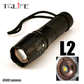 New Tactical Flashligh E97+ CREE XM-L L2 4500 Lumens led Torch Zoomable LED light Lamp For 3xAAA or 1x18650 or 26650