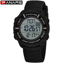PANARS Mens Digital Watches Men Sport Outdoor Watch Man Water Resistant Swimming Stopwatch Luxury Brand Clock Men Rubber Band
