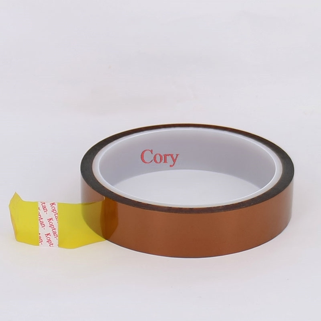 Hot Sell High Temperature Heat Resistant Polyimide 20mm 30M 100ft Tape Adhesive