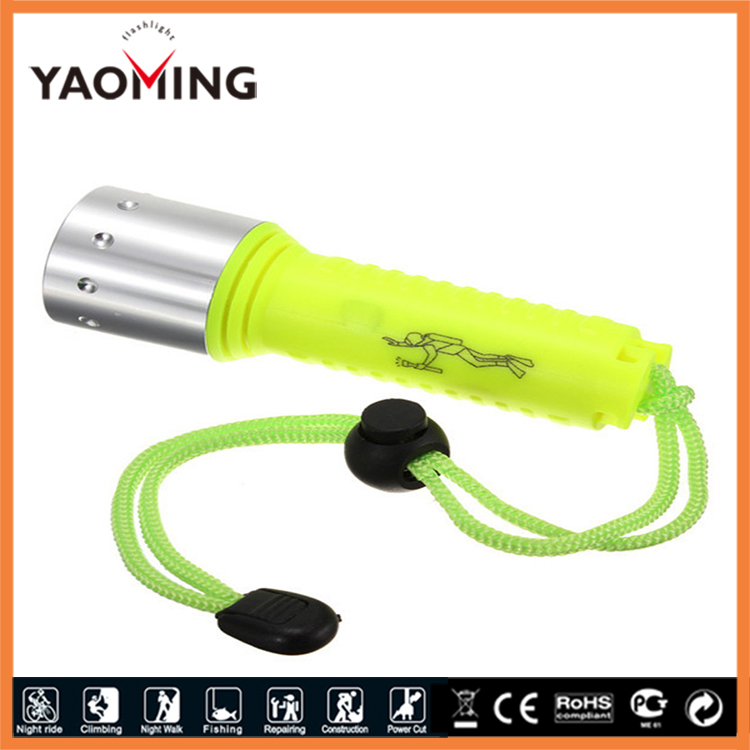 2000 lumens cree xml T6 LED dive flashlight waterproof submersible hand light diving handlamp for 18650 charge free shipping mot irf230 to 3
