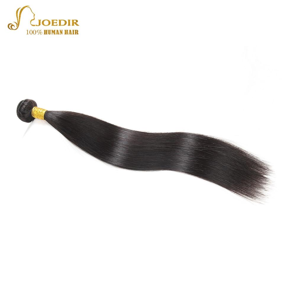 Joedir Hair Indian Straight Hair Bundles Deal Human Hair Extension Non Remy Hair Weave Bundle 8-26 Natural Black 1PC Free Ship