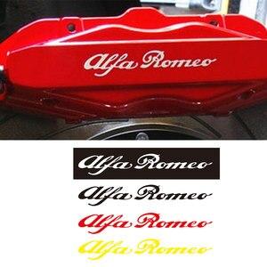4pcs for Alfa Romeo HI - TEMP CAST VINYL BRAKE CALIPER DECALS STICKERS