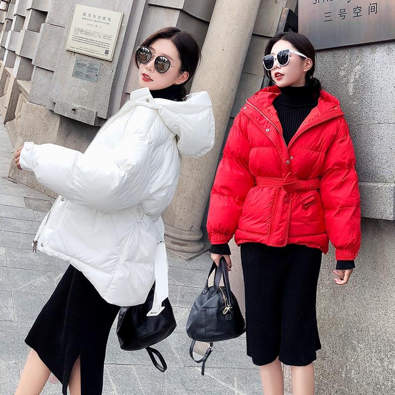 Canard Blanc Outwear Parkas Femme Vers rouge Duvet Hiver Manteau Veste 2018 Collection Noir Femmes Le rose blanc Capuchon Neige Poches De Femelle À Longue Bas vqOqwxP4