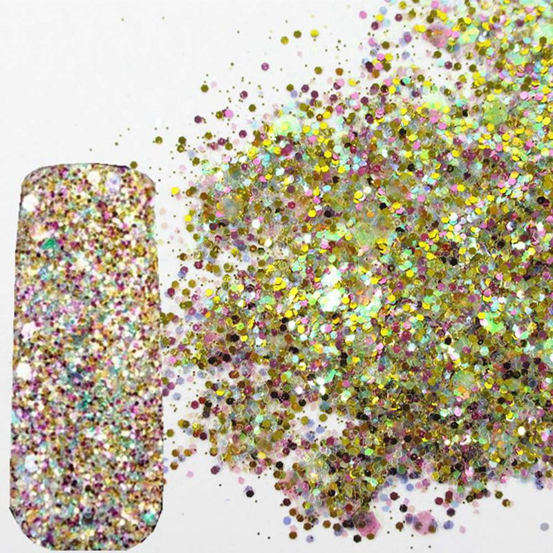 Starry Nail Glitter Powder Holographic Laser Glitters Dust Manicure Nail Art Decorations