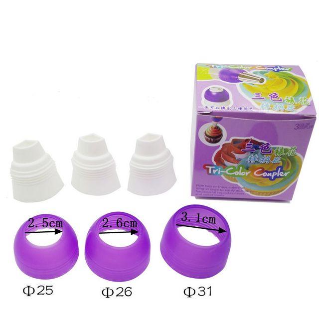 nueva unidad coupker tricolor tubo de los pasteles del consejo boquillas adaptador convertidor acoplador fondant decoracin