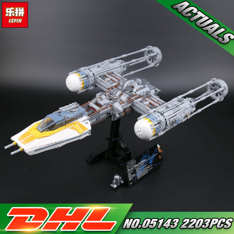 DHL Lepin 05143 Star Toys Wars The 75181 New Y-wing Starfighter Set Model Building Blocks Bricks New Kids Toys Christmas Gifts