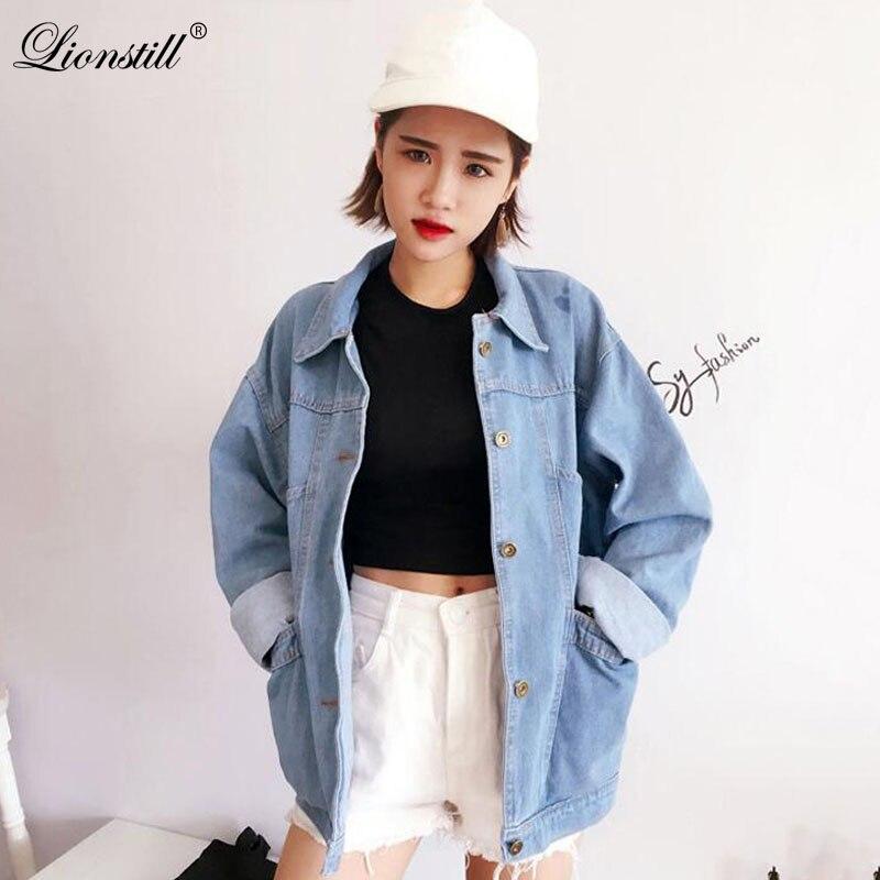 LIONSTILL lambswool denim   jacket   coat Women Casual streetwear blue   basic     jackets   female 2018 autumn winter outerwear
