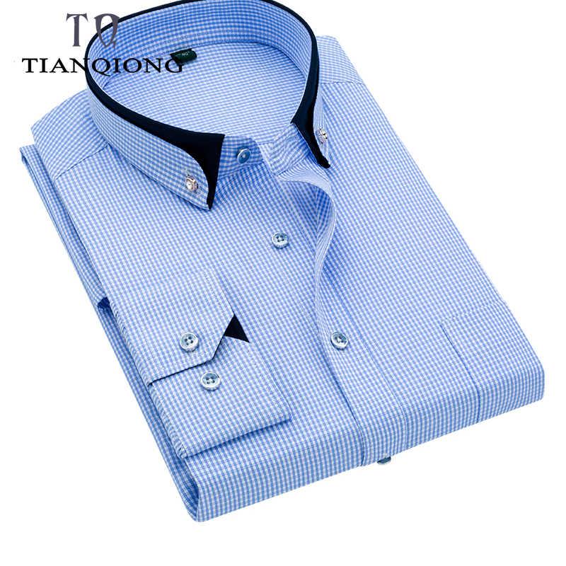 Alta calidad rayas hombres Stirped Plaid Casual vestido Camisas manga larga cuello negro diseño estilo boda esmoquin camisa 5XL