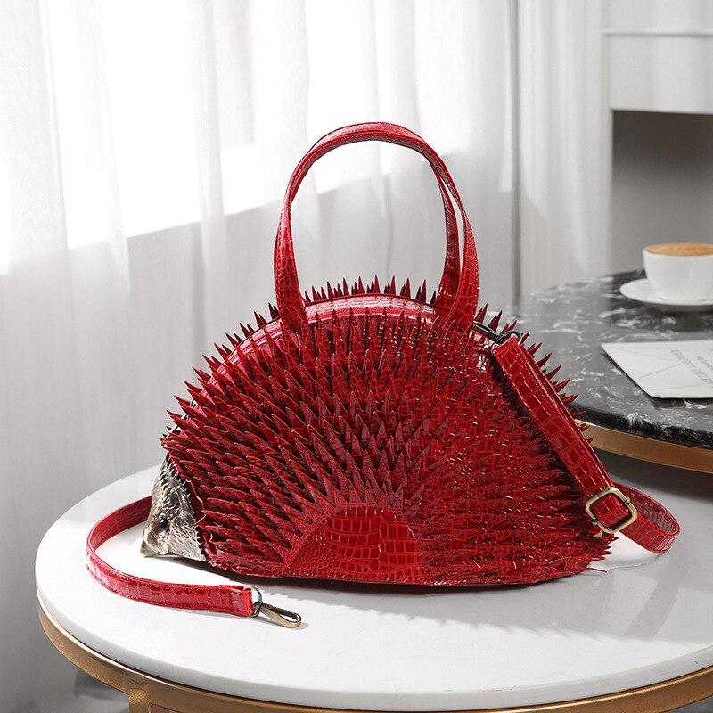 Mode Trend Handtasche, 2019 Neue Kreative Hedgehog Tasche Exklusive Persönlichkeit tasche. Luxus Handtaschen Frauen Taschen Designer-in Taschen mit Griff oben aus Gepäck & Taschen bei  Gruppe 1