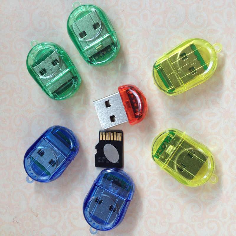 1 قطعة البسيطة جديد USB 2.0 TF مايكرو SD SDHC SDXC الذاكرة قارئ بطاقات الكاتب USB فلاش محرك الذاكرة قارئ بطاقات s لون عشوائي