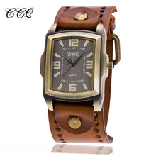 CCQ Luxury Brand Mens Watches Vintage Roman Leather Bracelet Wristwatch Male Casual Quartz Watch Relogio Masculino Clock C22