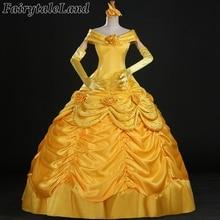Красота и Beast Belle Платье взрослых принцесса Белль косплей костюм Необычные Принцесса Белль костюм Хэллоуин Необычные костюмы Belle