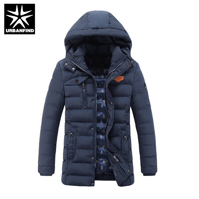 URBANFIND Autumn Winter Clothes Men Thick Warm Parkas Large Size L-3XL Man Casual Cotton Coats & Outerwear