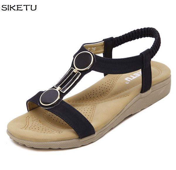 2017 new summer sandals shoes JF046 buckle shoes wholesale price black khaki peep toes casual ladies female flats sandals shoe