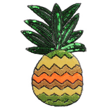 Pineapple Sequins Embroidered Patch Iron on Sewing Applique Clothes Shoes Bags Decoration Apparel DIY Accessories