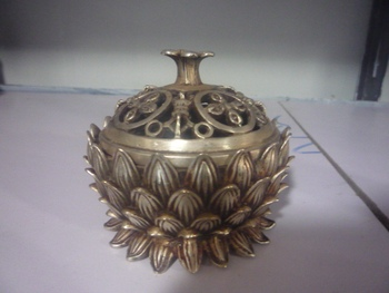 Rare Old QingDynasty Silver Incense Stove\Censer,Lotus,Decoration, free shipping