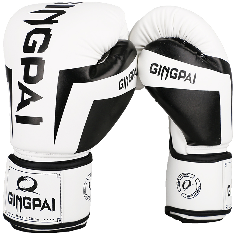 2017 New High Quality PU Leather White Professional Boxing Gloves Sanda Muay Thai Boxing Training Fighting Gloves Luvas De Boxeo цены онлайн