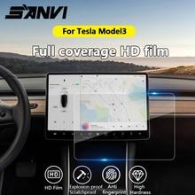 Sanvi 15 สติกเกอร์รถล้างกระจกนิรภัยหน้าจอ Protector สำหรับ Tesla Model3 navigation หน้าจอสัมผัส