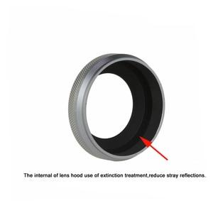 Image 4 - Tam Metal Ultra ince Lens Hood Adaptör Halkası Iplik Tasarımı Fujifilm Kamera için X70 X100T X100S X100