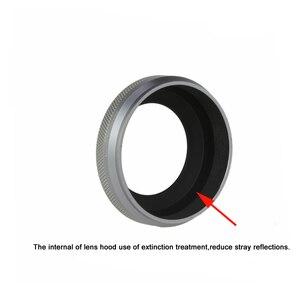Image 4 - W pełni metalowa ultra cienka osłona obiektywu z pierścień pośredniczący konstrukcja gwintu na aparat fujifilm X70 X100T X100S X100