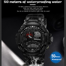 Fashion Casual Engraved Adult Sports Watch Men's Outdoor Waterproof
