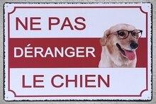 1 pc Ne pas derenger le chien trespassing jardin Tin Plate Sign wall plaques man cave Decoration Art Dropshipping Poster metal