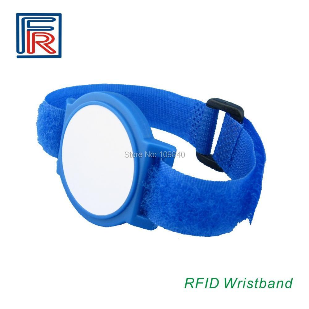 100pcs Hot T5577 chip Rewritable 125khz RFID smart Nylon Bracelet/Wristband for access control/Event/cabinet lock survival nylon bracelet brown