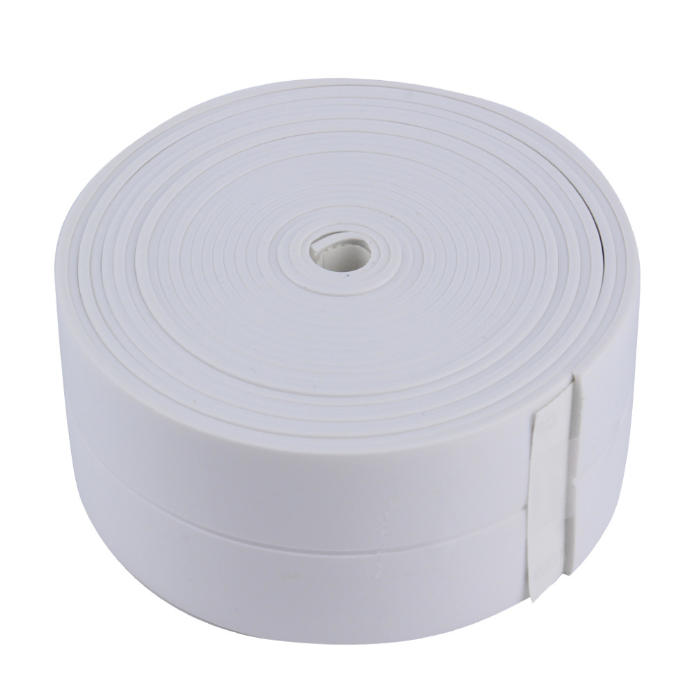 3.4m*38mm DIY Self adhesive Waterproof White Mildewproof Sealing Sealant Strip Tape Mosaic PVC Wall sticker for Bathroom Kitchen