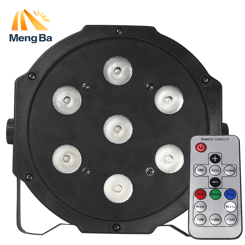 MengBa Good Quality Led Par Quad 7x12w Wash Dmx Par Light American Dj Par Rgbw 4in1 Dmx Led Flat Par Light Led Lamp